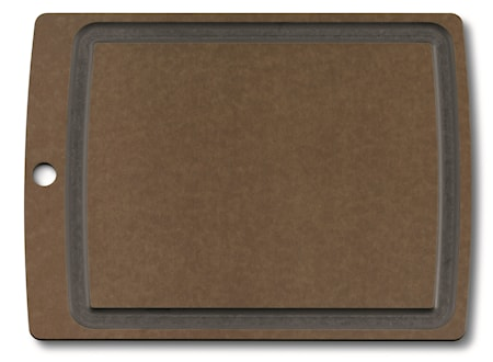 Allrounder Cutting Board L, brown with juice groove