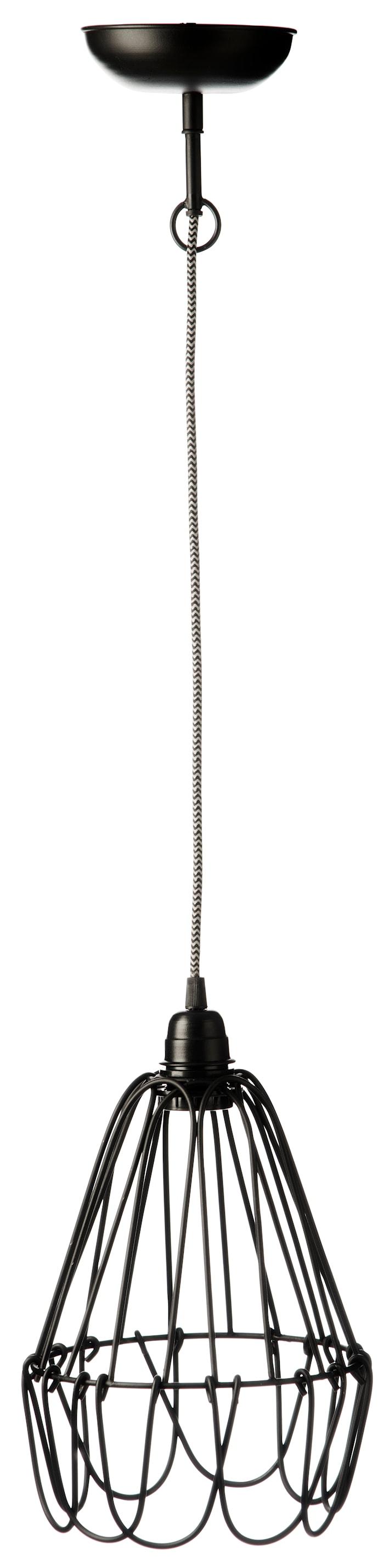 Taklampa Ø 21cm Svart