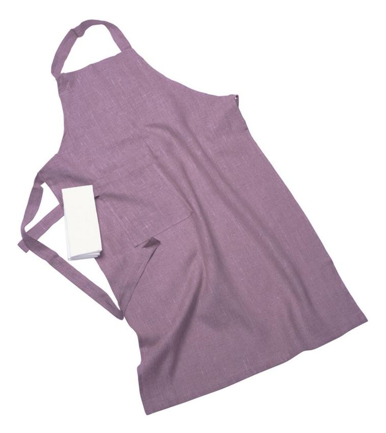 Erik classic lång förkläde – Med handduk lilac