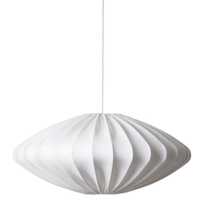 Ellipse Deckenleuchte Weiß 80 cm