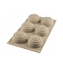 Design 3D Silikonform Mini Girotondo D:6.8 cm Ljusgrå