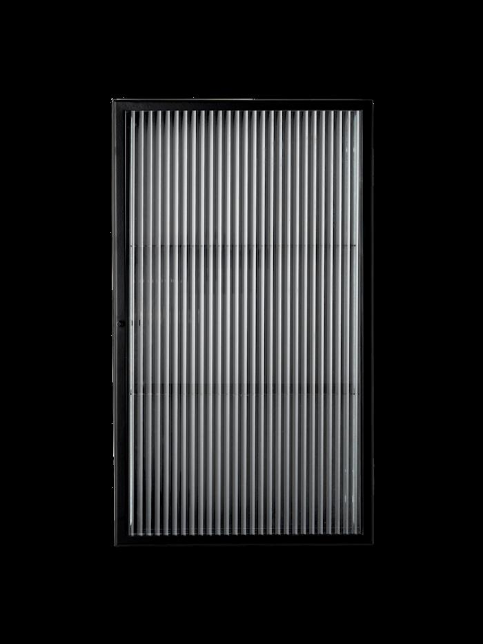 Haze Väggskåp Räfflat Glas Svart 35x60 cm