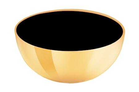 Mässingsskål med emaljerad insida svart