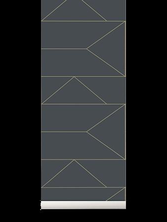 Lines Tapet Graphite