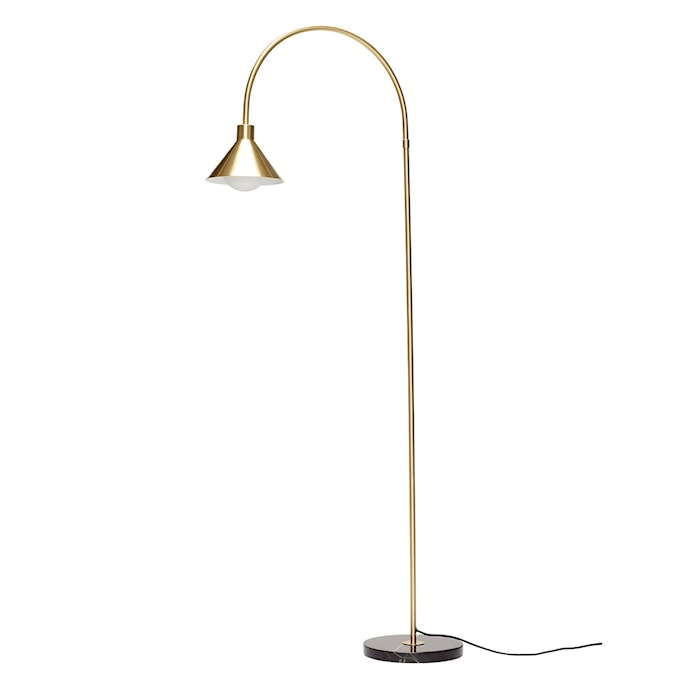 Golvlampa med Marmorfot Mässing 168cm