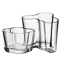 Alvar Aalto vase 95 mm + tealight candle holder 60 mm