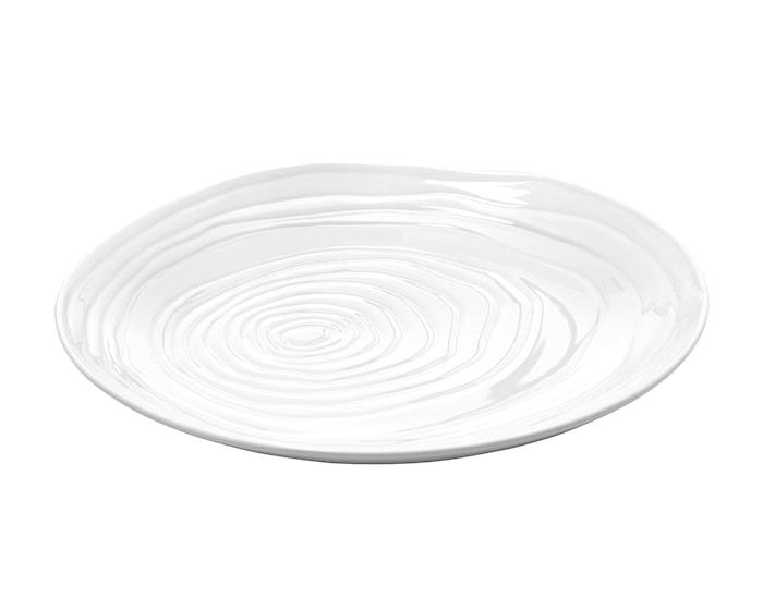 Boulogne tallerken flad hvid, Ø 26,5 cm