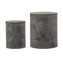 Opbevaringskasser 2 stk. Grå Mocka 7,5x10/11x13 cm