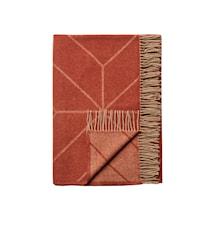 Ayur Pledd Lammeull Rust/Beige 130 x 200 cm