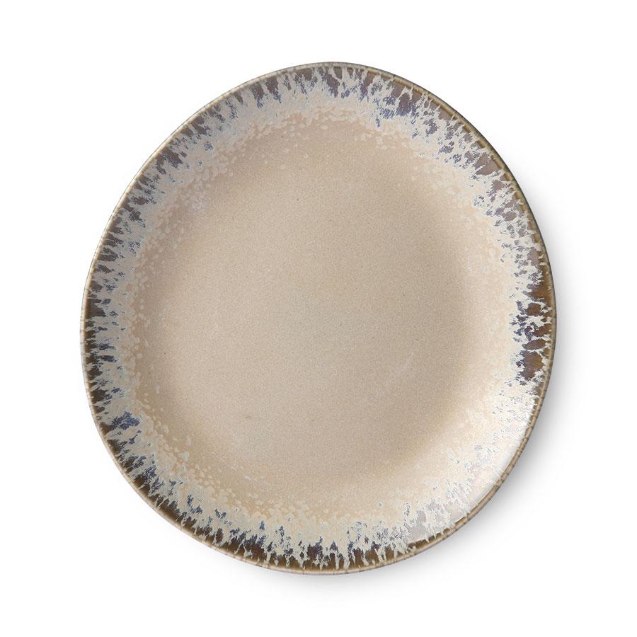 70's Keramik Assiett Beige