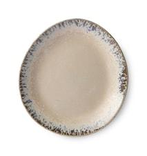 70's Keramikk Asjett Beige