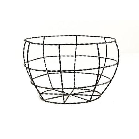 Day home Twisted wire Korg Flätad Ståltråd H 145 cm D 23 cm Svart