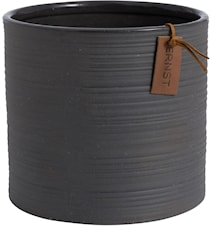 Krukke d18,5 h17 cm, mørkegrå