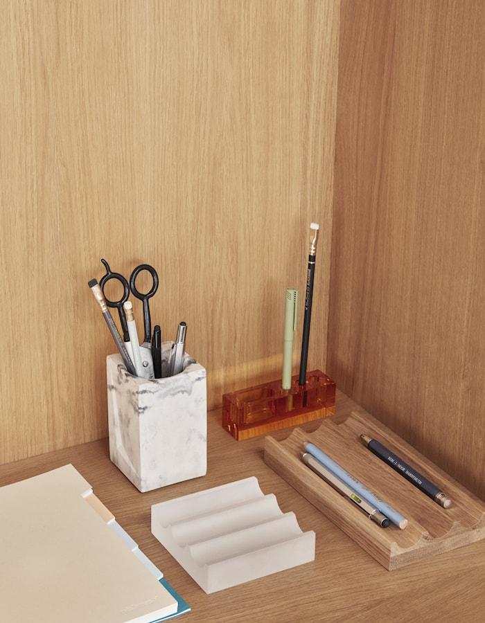 Skrivbords Organisering Frostat glas