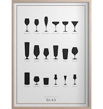 Glas Poster 50x70 cm