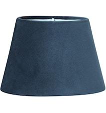 Lampeskjerm Oval Fløyel Blå