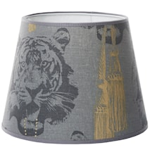 Coco tiger lampskärm grey - Small