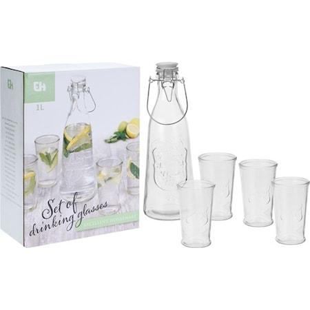 Vattenkanna och glas 5-delar