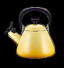 Kone Wasserkocher mit Pfeife Emaille Stahl Sonnengelb