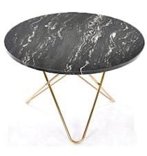 Big O table spisebord - sort/messing underplade