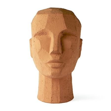 Abstract Huvudskulpturhead Terracotta