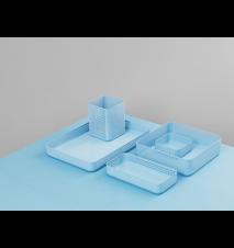 Nic Nac Förvaring Blå 10,5x10,5x4 cm
