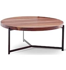 Plateau sofabord - Valnød, Behandlet stål