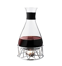Mulled wine decanter glass with chrome stand 1 L