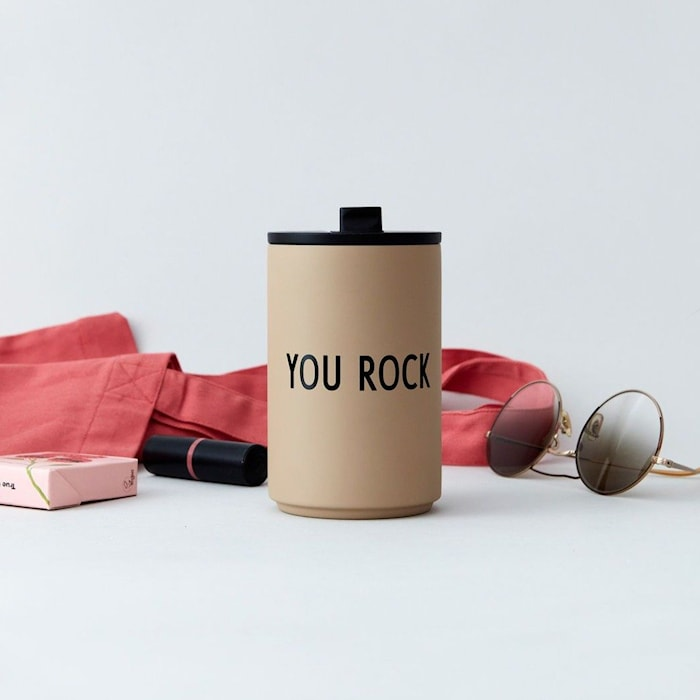YOU ROCK Thermo/Isolerad Mugg Beige