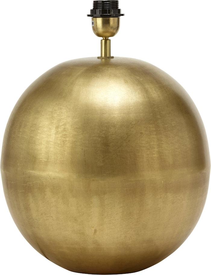 Globe Lampfot Blekt Guld 23cm