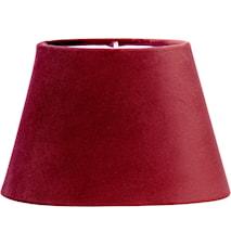 Lampeskjerm Oval Fløyel Rød