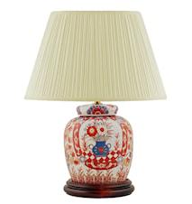 Lampfot, 17,5 cm, urna med blommor,, Imari - mönster