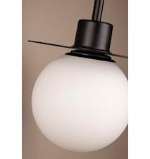Vägglampa Art Deco med arm Svart