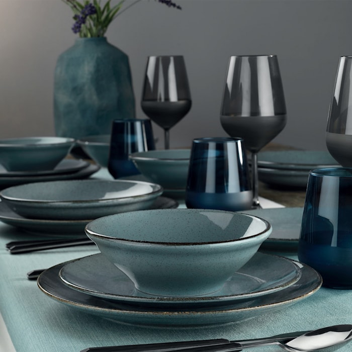 Dinner Set (24 Pieces) Blue