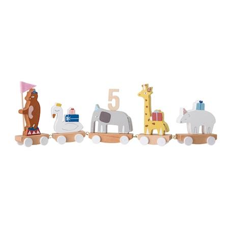 Födelse dekoration Tåg Multi-color Bokträ