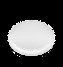 Rhombe Oval serveringsfat Vit 35x26,5 cm