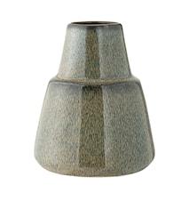 Vase Blå Stentøj 11x13 cm