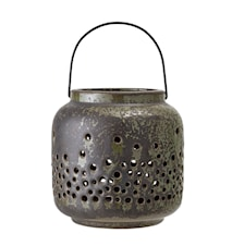 Candle Holder Stone Green 15 cm