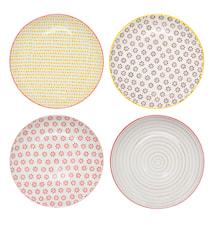 Susie Plate set of 4 Pattern