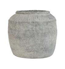 Blomsterkrukke L Cement Grå 29 cm