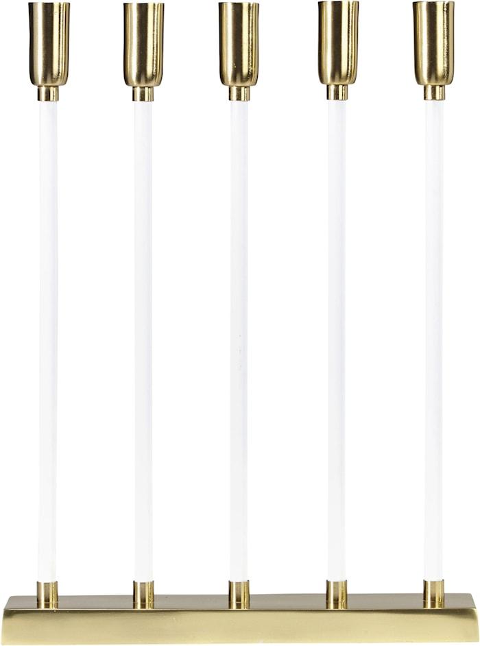 Raw Kynttilä 5 Flat Valkoinen/Kulta 32 cm