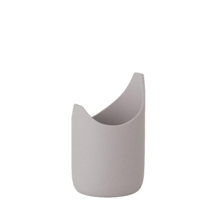 Vase Porselen Grå 11 cm