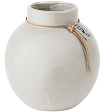 Rund Vas Stengods 14 cm - Vit