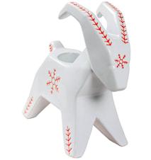 Snöflinga Lille buk white/red