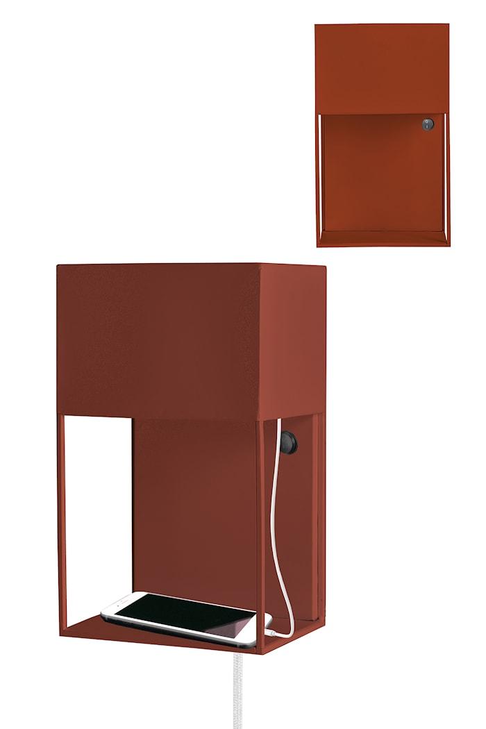 Box Seinälamppu Ruosteenpunainen