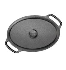 Gryta oval 2 L med järnlock