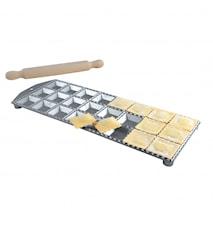 Ravioliform Aluminium 24 stk firkantede huller