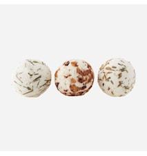 Såpeballer 3 dufter Lavender/Lemongrass/Rose