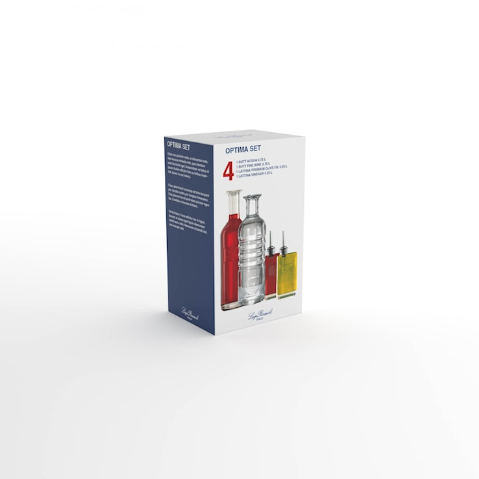 Optima 4 delars Set Karaffer + olje- & vinägerflaska