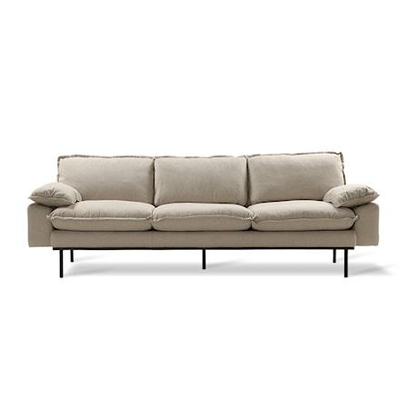 Retro Soffa 4-sits cosy Beige
